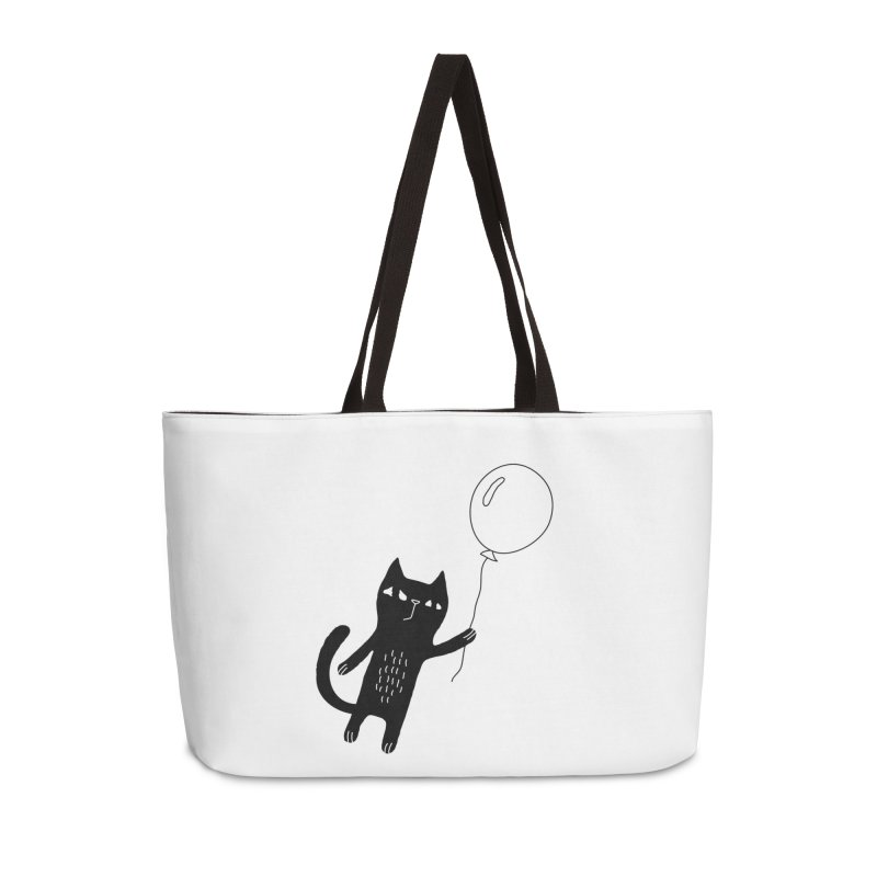 Flying Cat Accessories Weekender Bag Bag by PENARULIT's Artist Shop