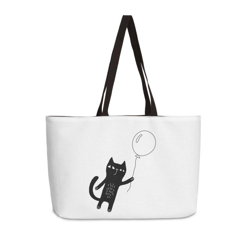 Flying Cat Accessories Weekender Bag Bag by PENARULIT illustration