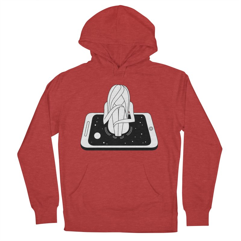 Internet Addiction Men's French Terry Pullover Hoody by PENARULIT's Artist Shop