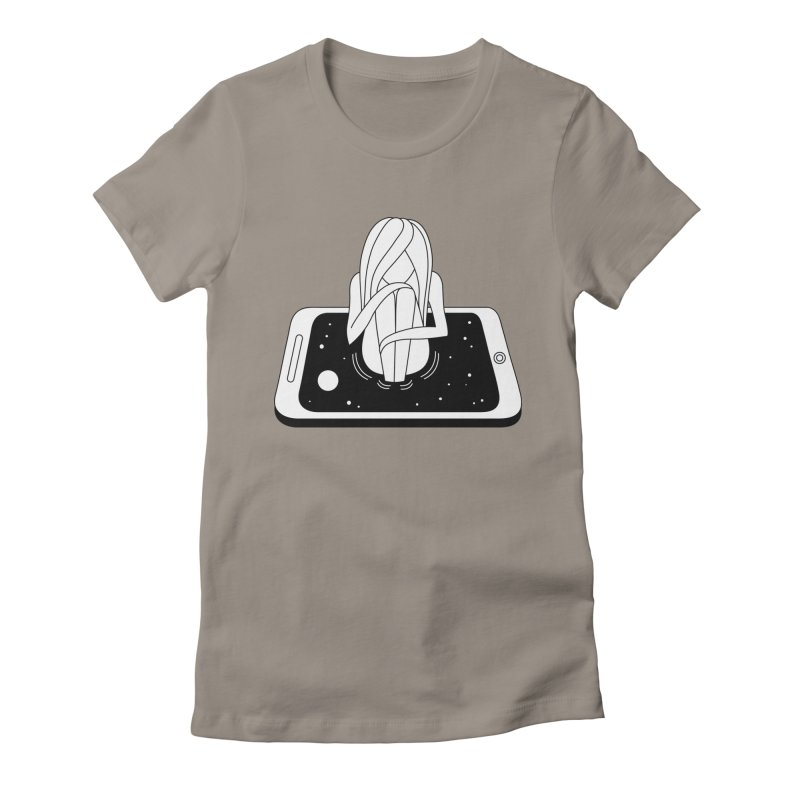 Internet Addiction Women's Fitted T-Shirt by PENARULIT's Artist Shop