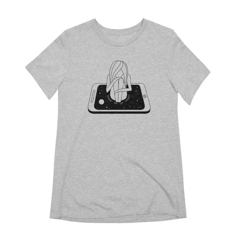 Internet Addiction Women's T-Shirt by Ekaterina Zimodro's Artist Shop