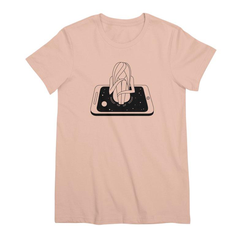 Internet Addiction Women's Premium T-Shirt by PENARULIT illustration
