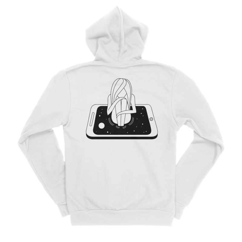 Internet Addiction Men's Sponge Fleece Zip-Up Hoody by PENARULIT illustration