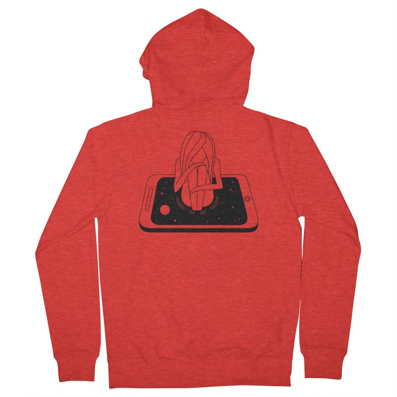 Internet Addiction Women's Zip-Up Hoody by Ekaterina Zimodro's Artist Shop