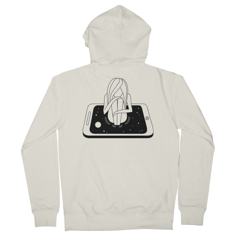 Internet Addiction Women's Zip-Up Hoody by PENARULIT illustration