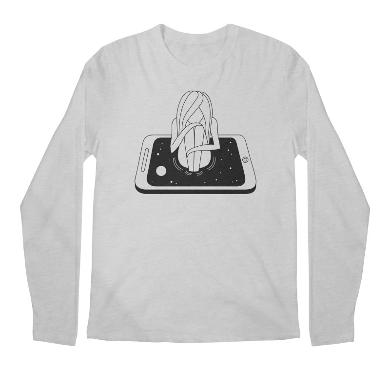 Internet Addiction Men's Regular Longsleeve T-Shirt by PENARULIT illustration