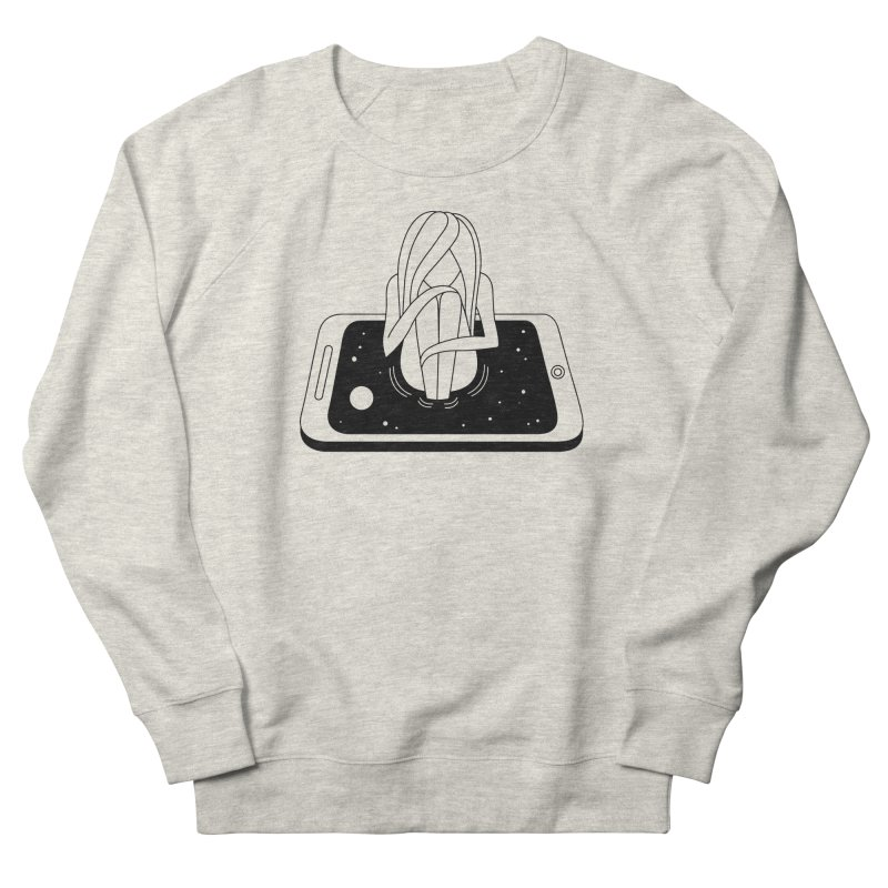 Internet Addiction Women's French Terry Sweatshirt by PENARULIT illustration