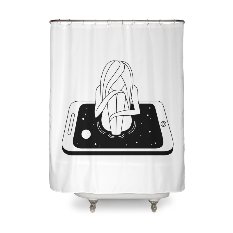 Internet Addiction Home Shower Curtain by Ekaterina Zimodro's Artist Shop