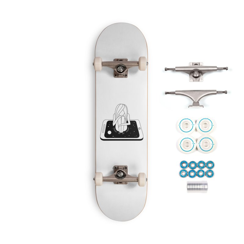 Internet Addiction Accessories Complete - Basic Skateboard by PENARULIT illustration