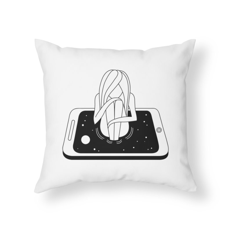Internet Addiction Home Throw Pillow by Ekaterina Zimodro's Artist Shop