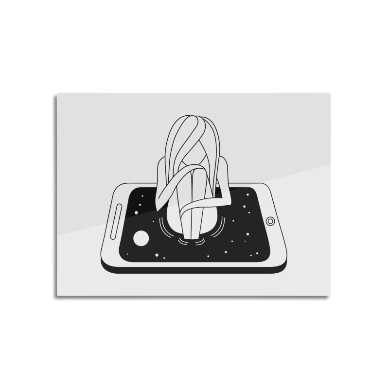 Internet Addiction Home Mounted Aluminum Print by PENARULIT illustration