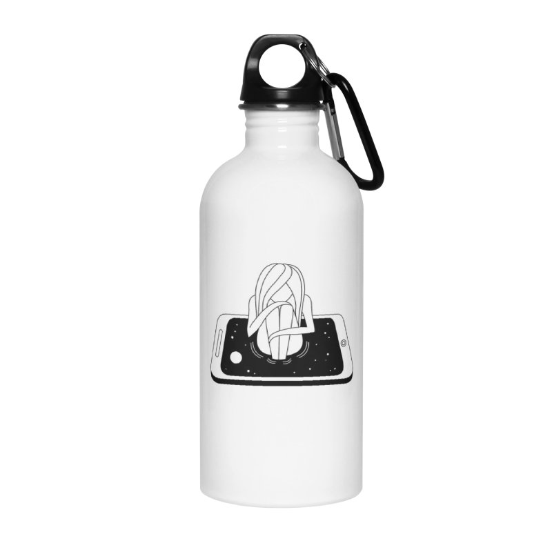Internet Addiction Accessories Water Bottle by PENARULIT illustration