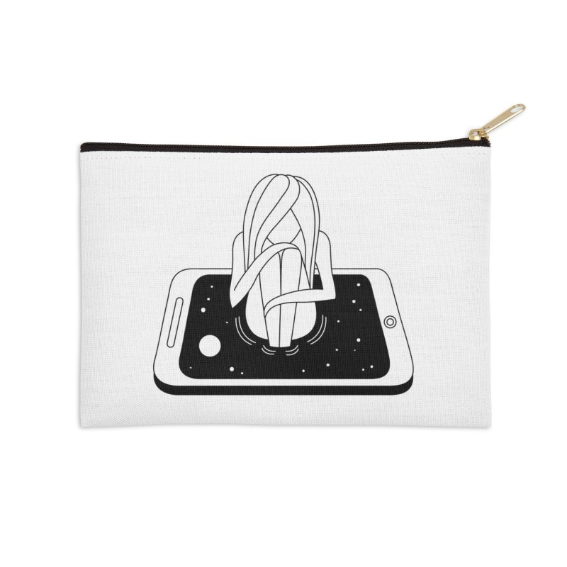 Internet Addiction Accessories Zip Pouch by Ekaterina Zimodro's Artist Shop