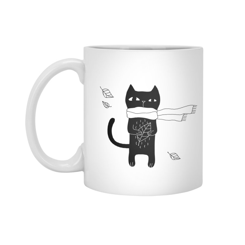 Lonely Cat Accessories Mug by Ekaterina Zimodro's Artist Shop