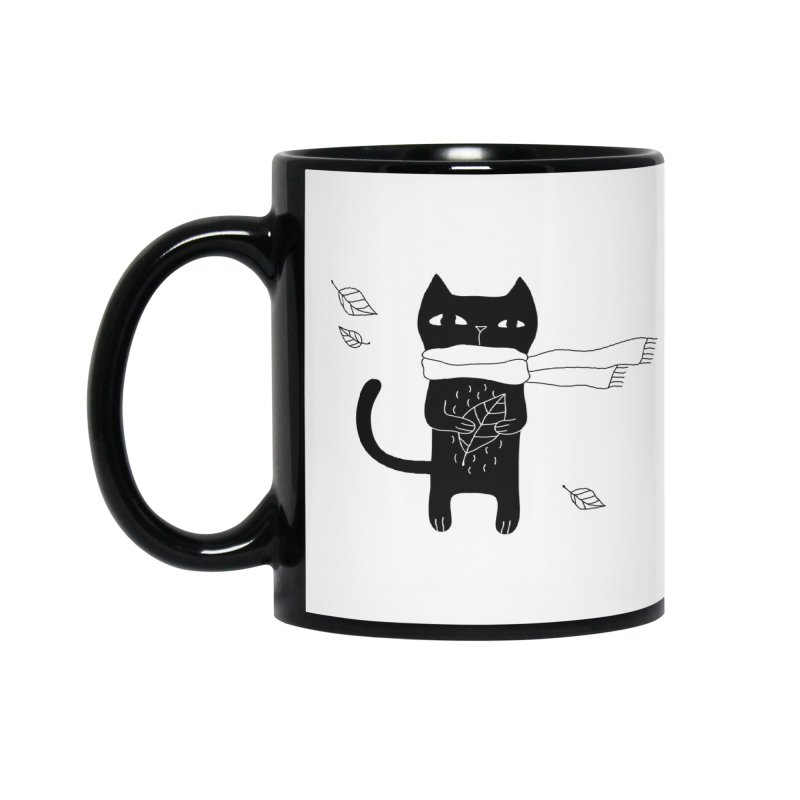 Lonely Cat Accessories Mug by PENARULIT illustration