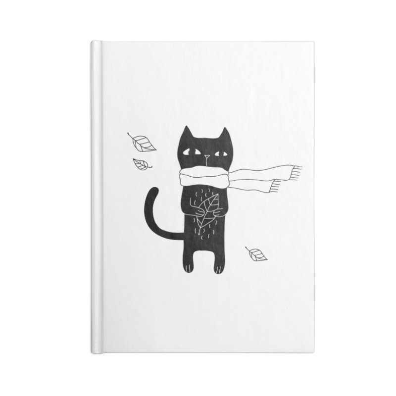 Lonely Cat Accessories Blank Journal Notebook by PENARULIT illustration