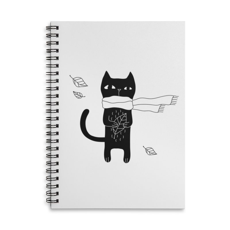Lonely Cat Accessories Notebook by PENARULIT illustration