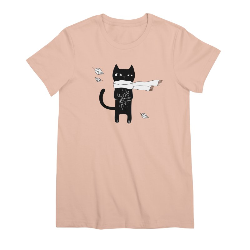 Black Cat Women's Premium T-Shirt by PENARULIT's Artist Shop