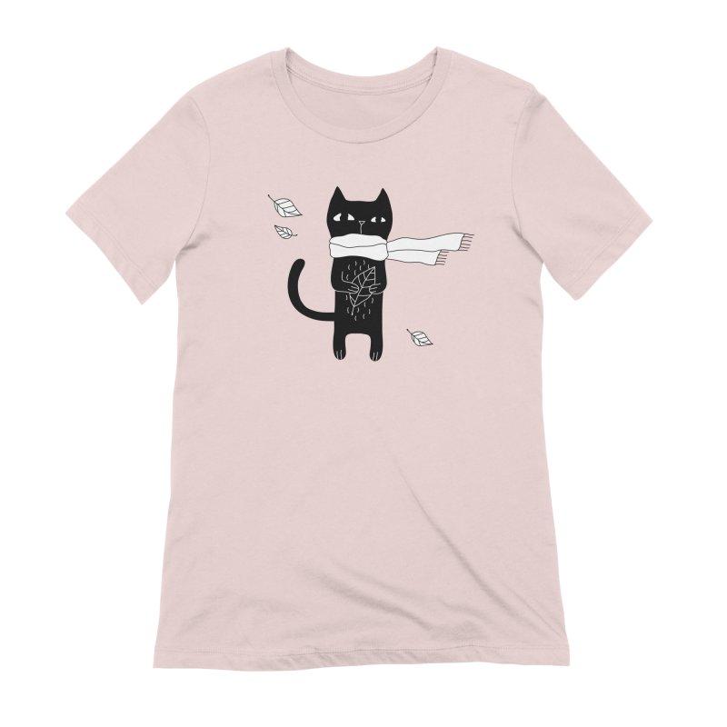 Black Cat Women's Extra Soft T-Shirt by PENARULIT's Artist Shop