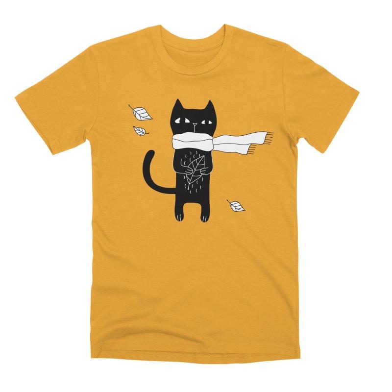 Black Cat Men's Premium T-Shirt by PENARULIT's Artist Shop