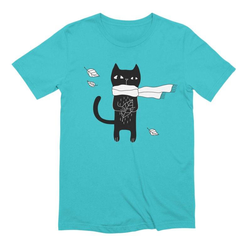 Black Cat Men's Extra Soft T-Shirt by PENARULIT's Artist Shop