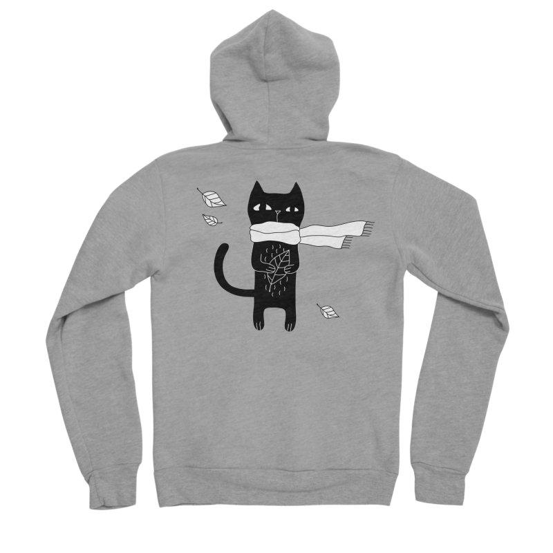 Black Cat Men's Sponge Fleece Zip-Up Hoody by PENARULIT's Artist Shop