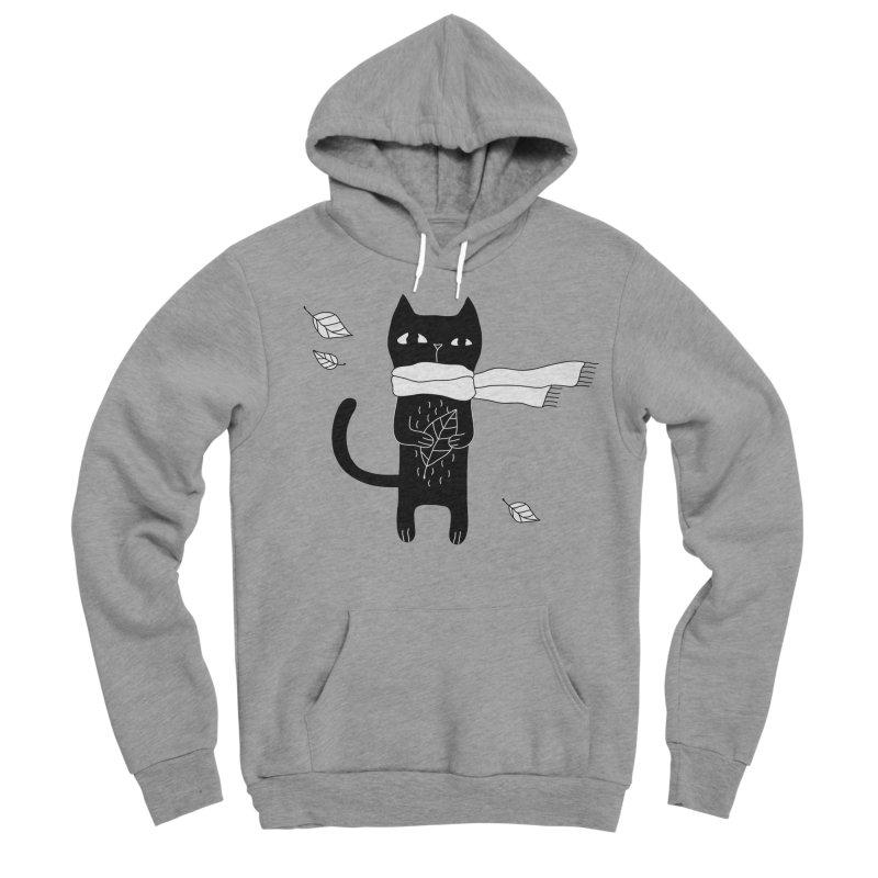 Black Cat Men's Sponge Fleece Pullover Hoody by PENARULIT's Artist Shop