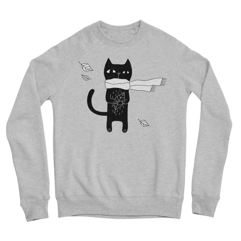 Black Cat Men's Sponge Fleece Sweatshirt by PENARULIT's Artist Shop