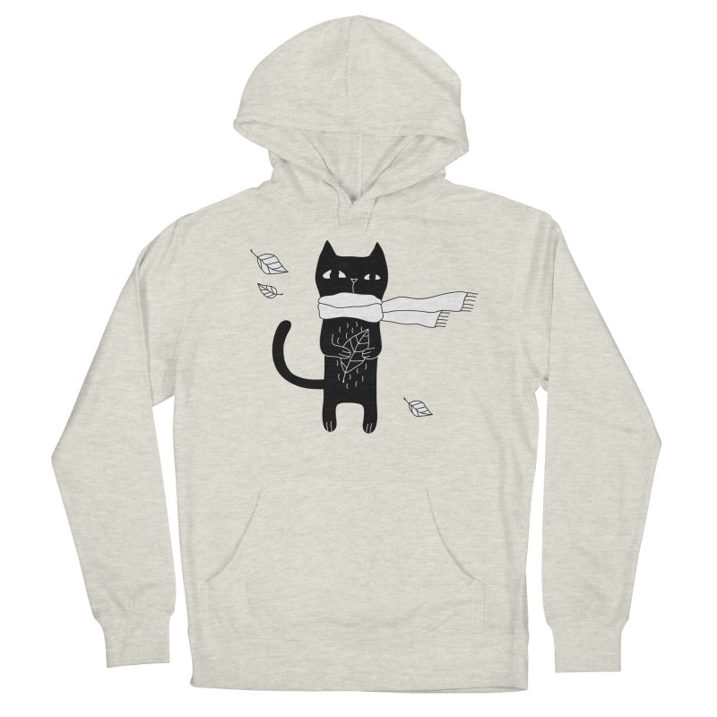Black Cat Women's French Terry Pullover Hoody by PENARULIT's Artist Shop