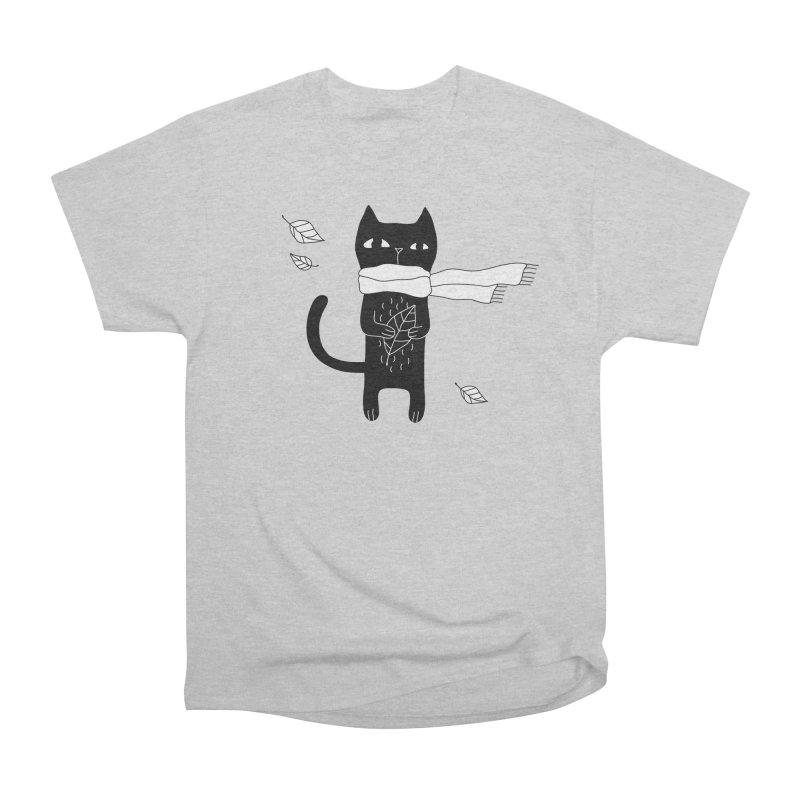 Black Cat Men's Heavyweight T-Shirt by PENARULIT's Artist Shop