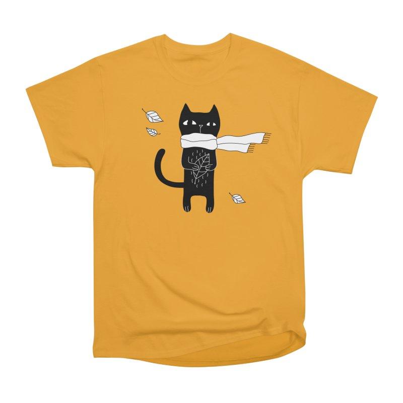 Black Cat Women's Heavyweight Unisex T-Shirt by PENARULIT's Artist Shop