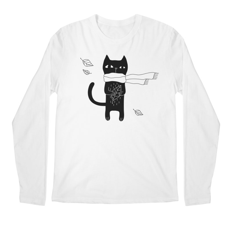 Black Cat Men's Regular Longsleeve T-Shirt by PENARULIT's Artist Shop