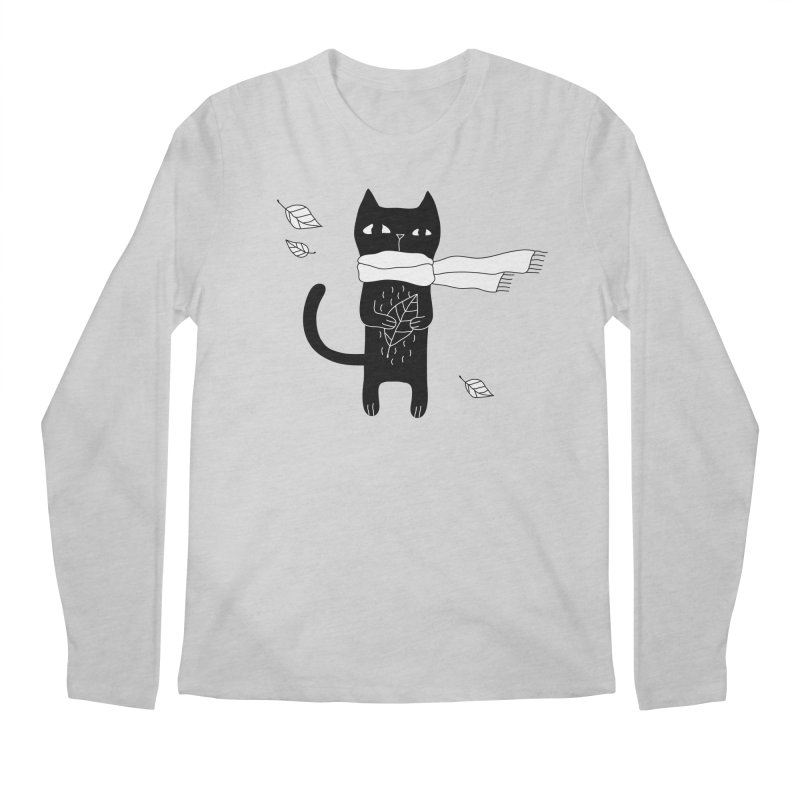 Black Cat Men's Regular Longsleeve T-Shirt by PENARULIT's Artist Shop