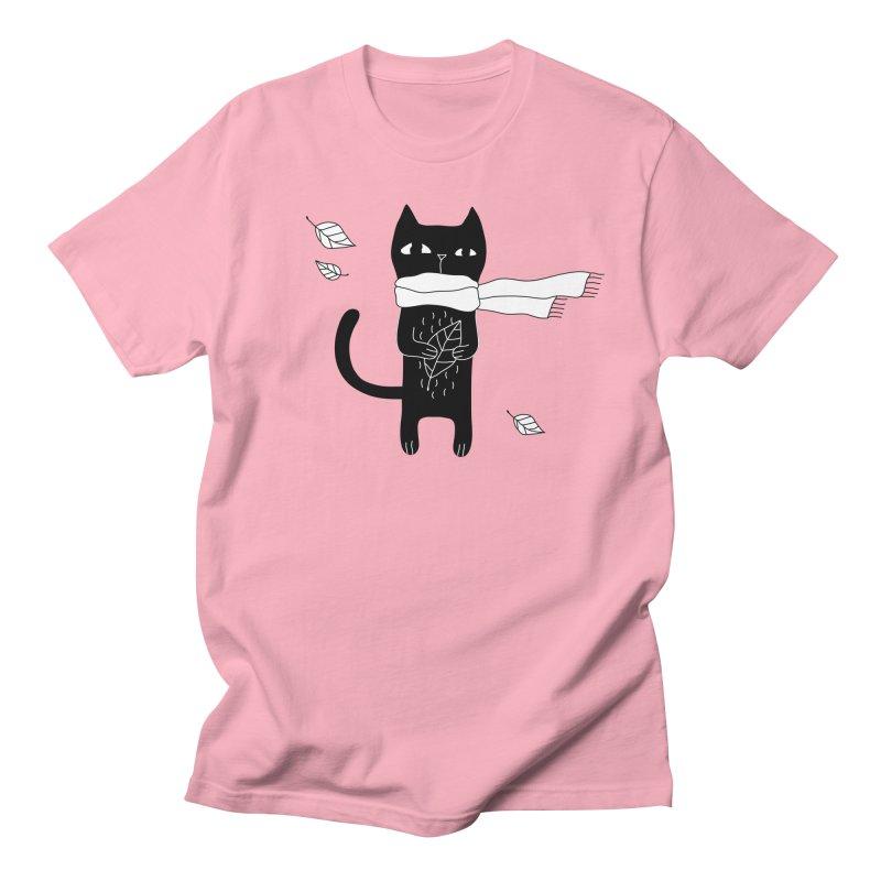 Black Cat Men's Regular T-Shirt by PENARULIT's Artist Shop