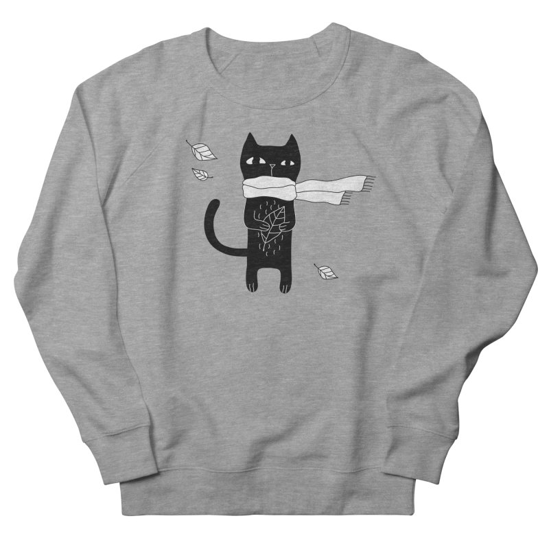 Black Cat Women's French Terry Sweatshirt by PENARULIT's Artist Shop