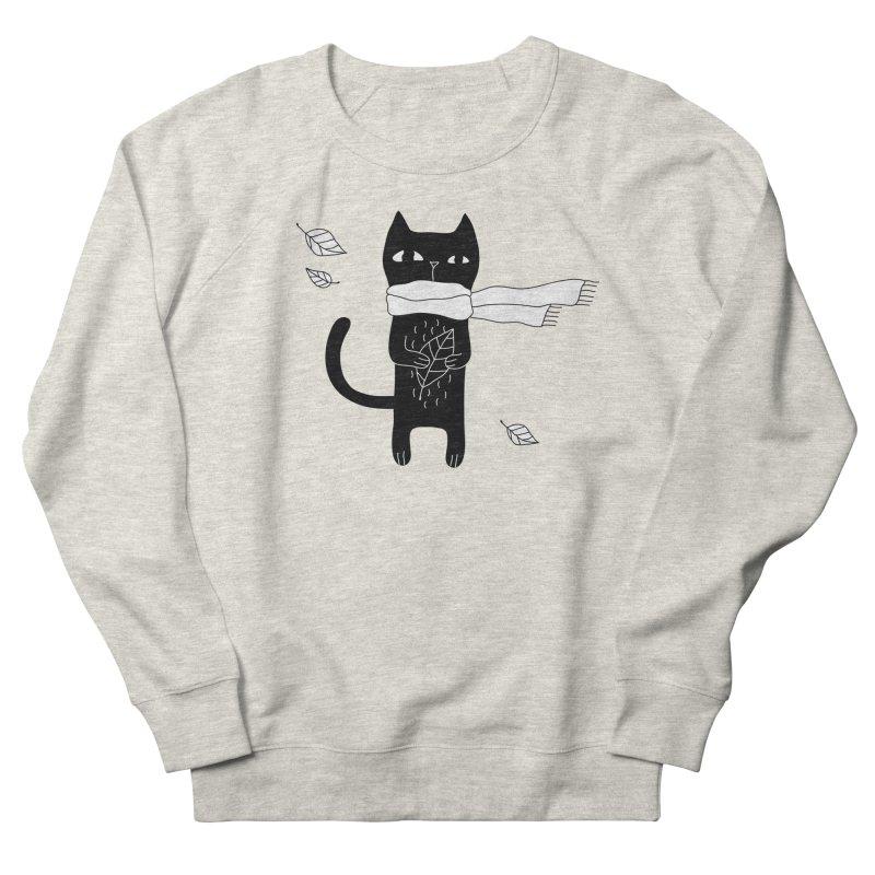 Black Cat Women's French Terry Sweatshirt by PENARULIT's Artist Shop