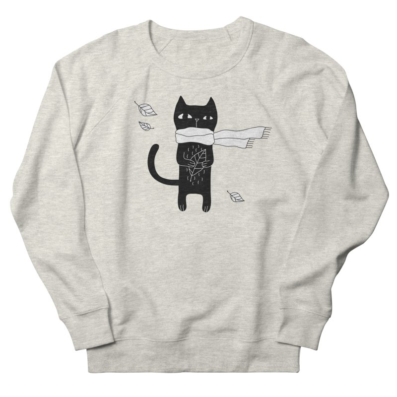 Black Cat Men's French Terry Sweatshirt by PENARULIT's Artist Shop
