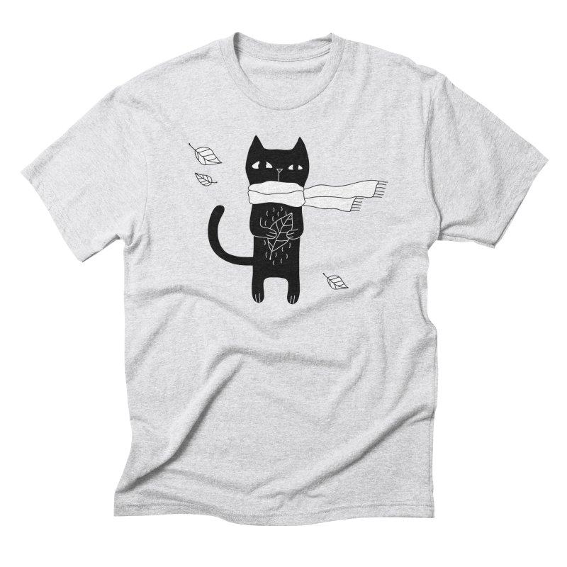 Black Cat Men's Triblend T-Shirt by PENARULIT's Artist Shop
