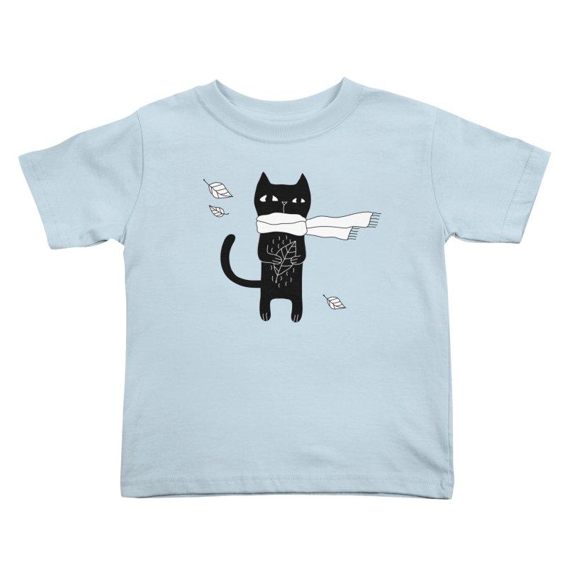Black Cat Kids Toddler T-Shirt by PENARULIT's Artist Shop