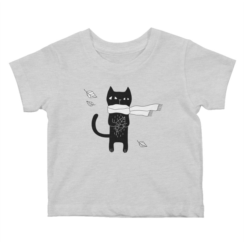 Black Cat Kids Baby T-Shirt by PENARULIT's Artist Shop