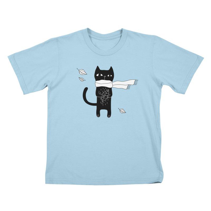 Black Cat Kids T-Shirt by PENARULIT's Artist Shop