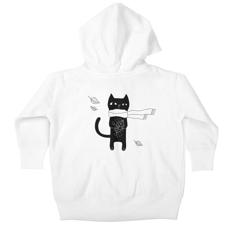 Black Cat Kids Baby Zip-Up Hoody by PENARULIT's Artist Shop