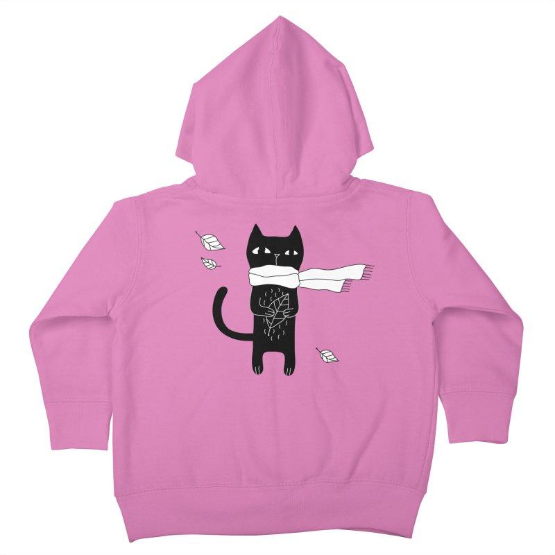 Black Cat Kids Toddler Zip-Up Hoody by PENARULIT's Artist Shop