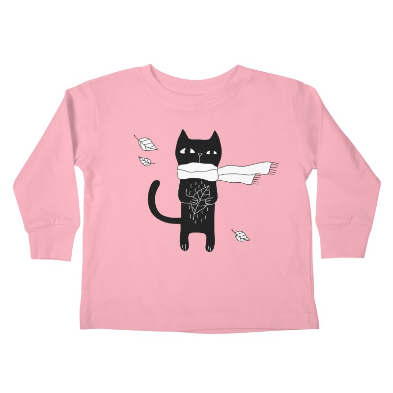 Black Cat Kids Toddler Longsleeve T-Shirt by PENARULIT's Artist Shop