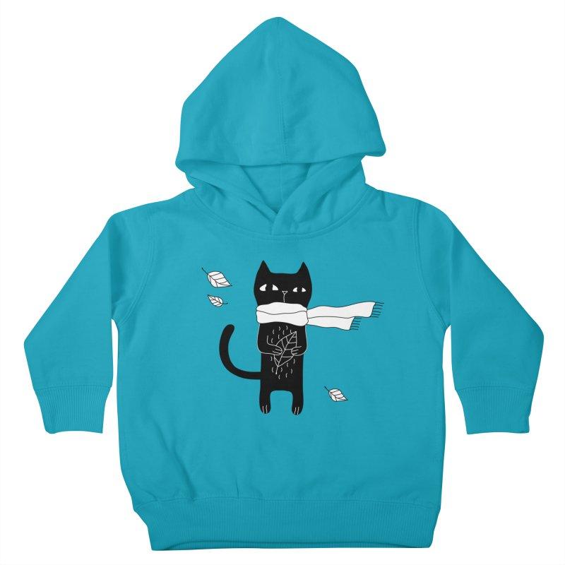 Black Cat Kids Toddler Pullover Hoody by PENARULIT's Artist Shop