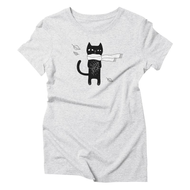 Black Cat Women's Triblend T-Shirt by PENARULIT's Artist Shop
