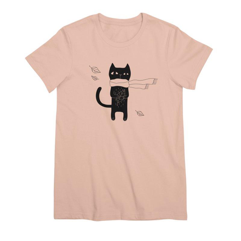 Lonely Cat Women's Premium T-Shirt by Ekaterina Zimodro's Artist Shop