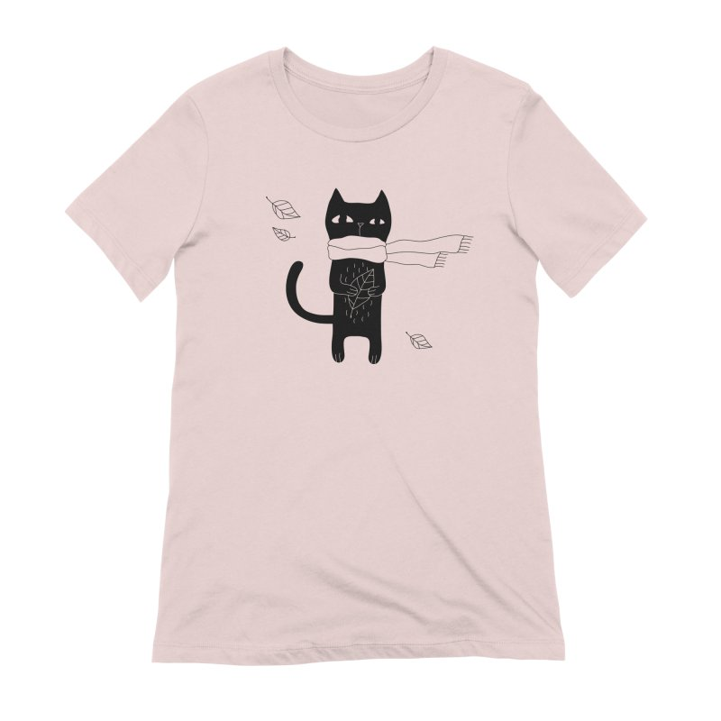 Lonely Cat Women's Extra Soft T-Shirt by PENARULIT illustration