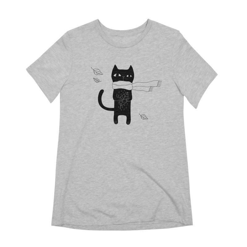 Lonely Cat Women's Extra Soft T-Shirt by Ekaterina Zimodro's Artist Shop