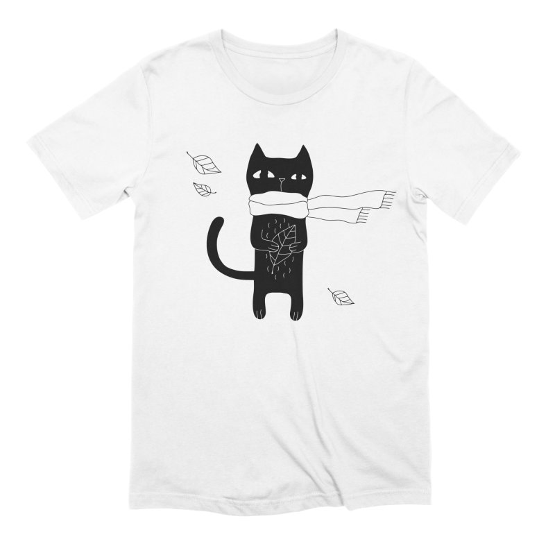 Lonely Cat Men's Extra Soft T-Shirt by PENARULIT illustration